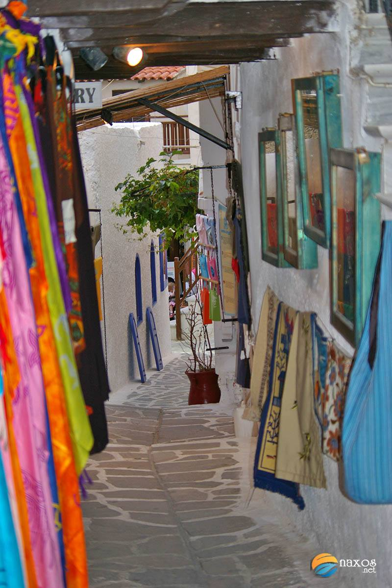 Small shops in the castle of Naxos Town
