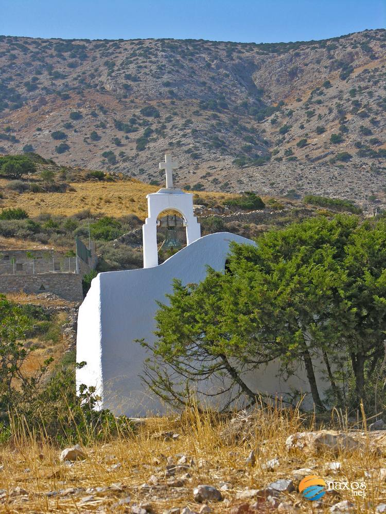 Chapel on a hill at Kalados beach