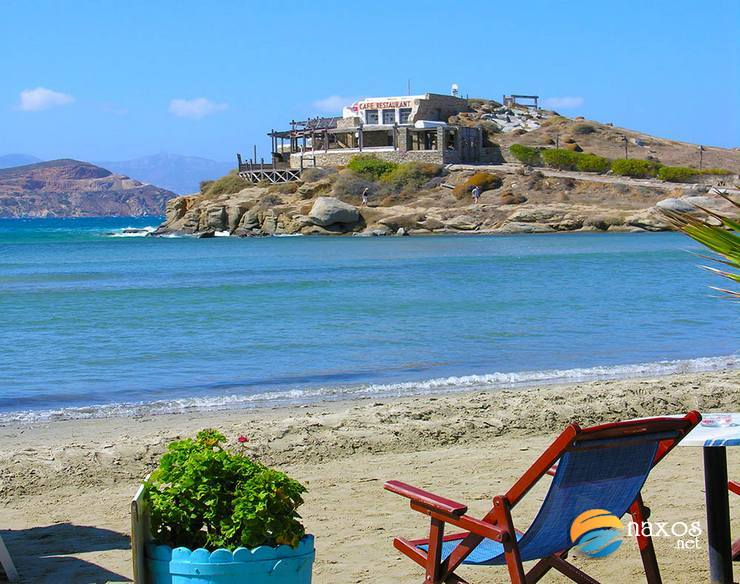 Saint George beach, Naxos Town