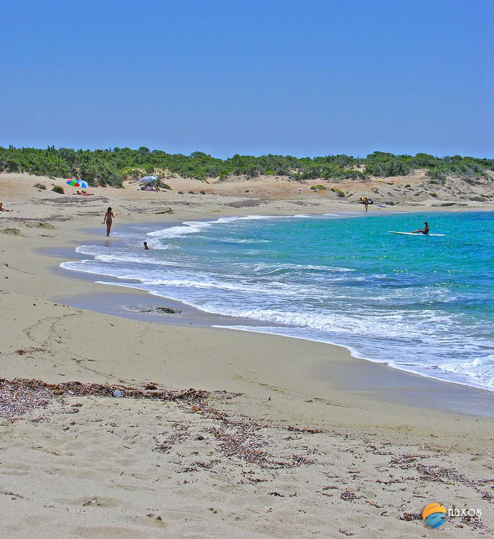Alyko beach - one of the 10 must see places on Naxos