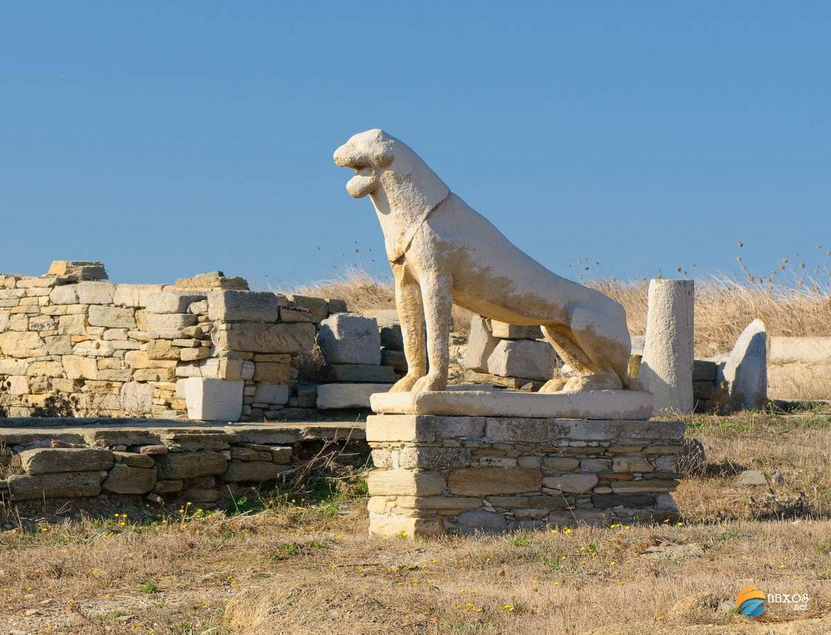 Delos island in Cyclades, Greece