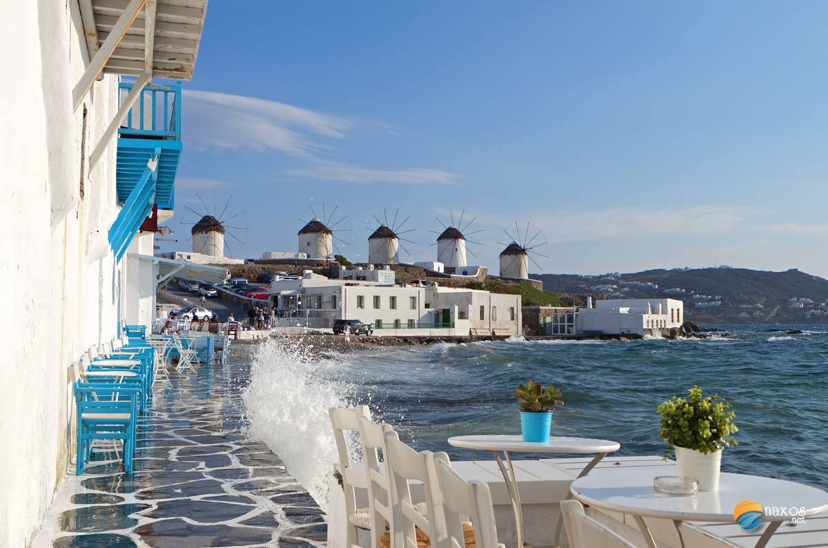 Mykonos island in Cyclades, Greece