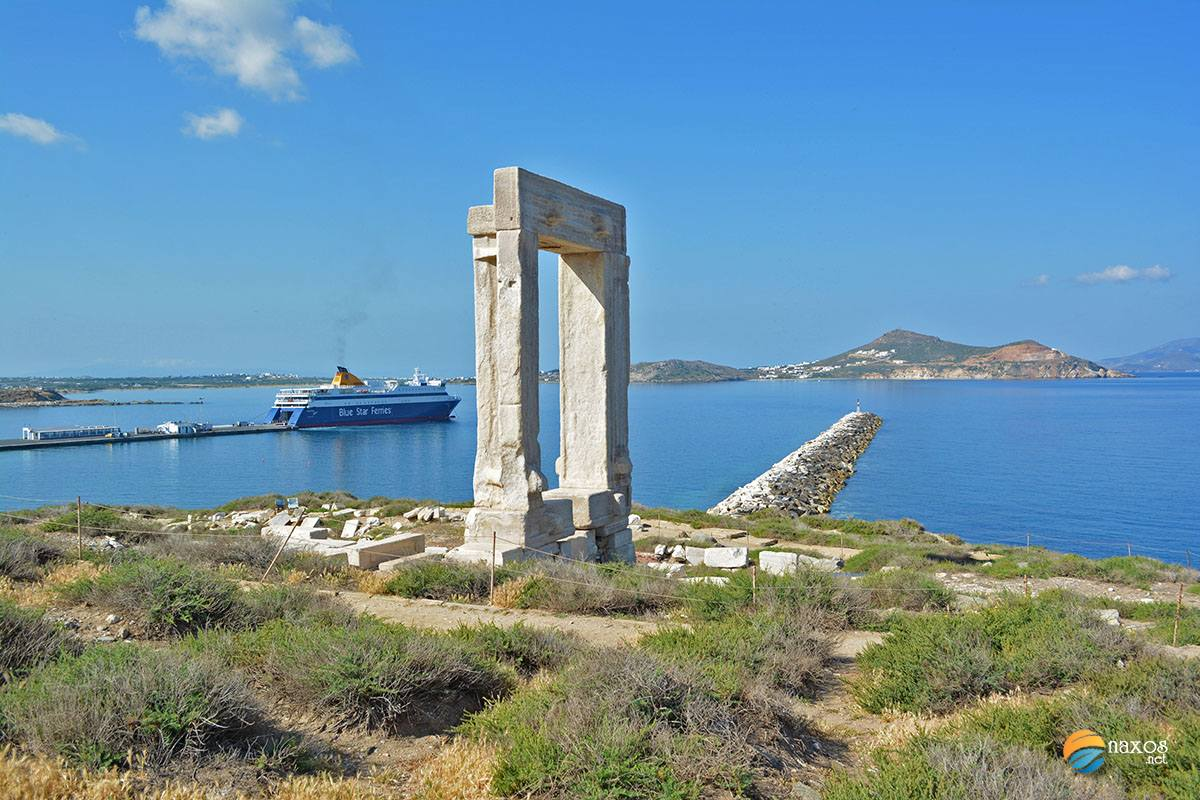 Naxos island in Cyclades, Greece
