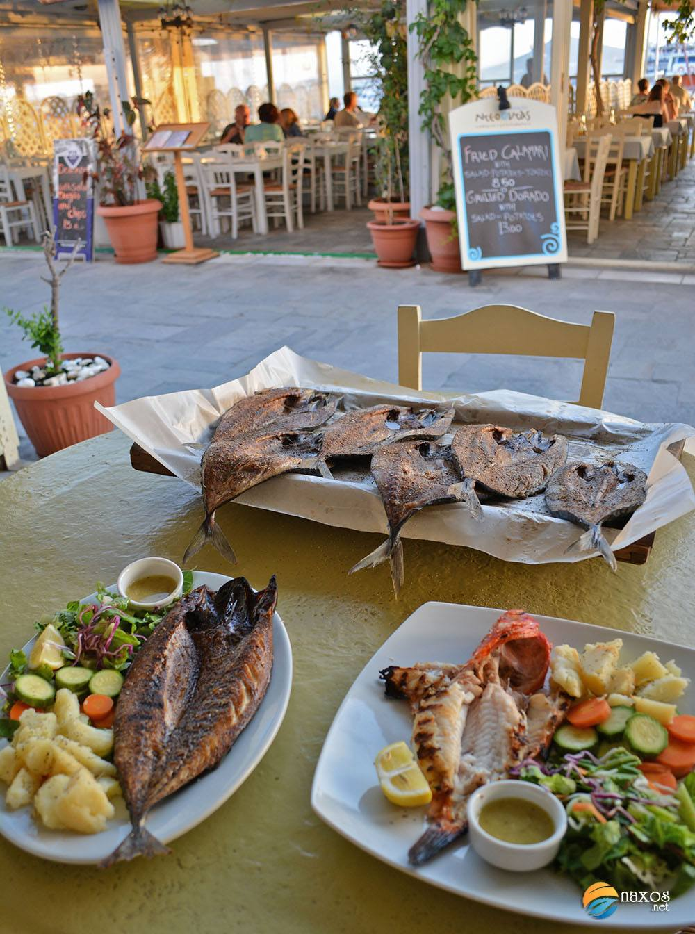 Restaurants of Naxos with excellent local cuisine