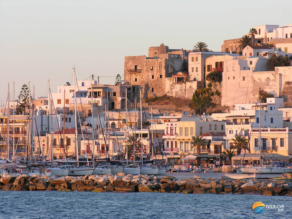The medieval castle of Naxos Town