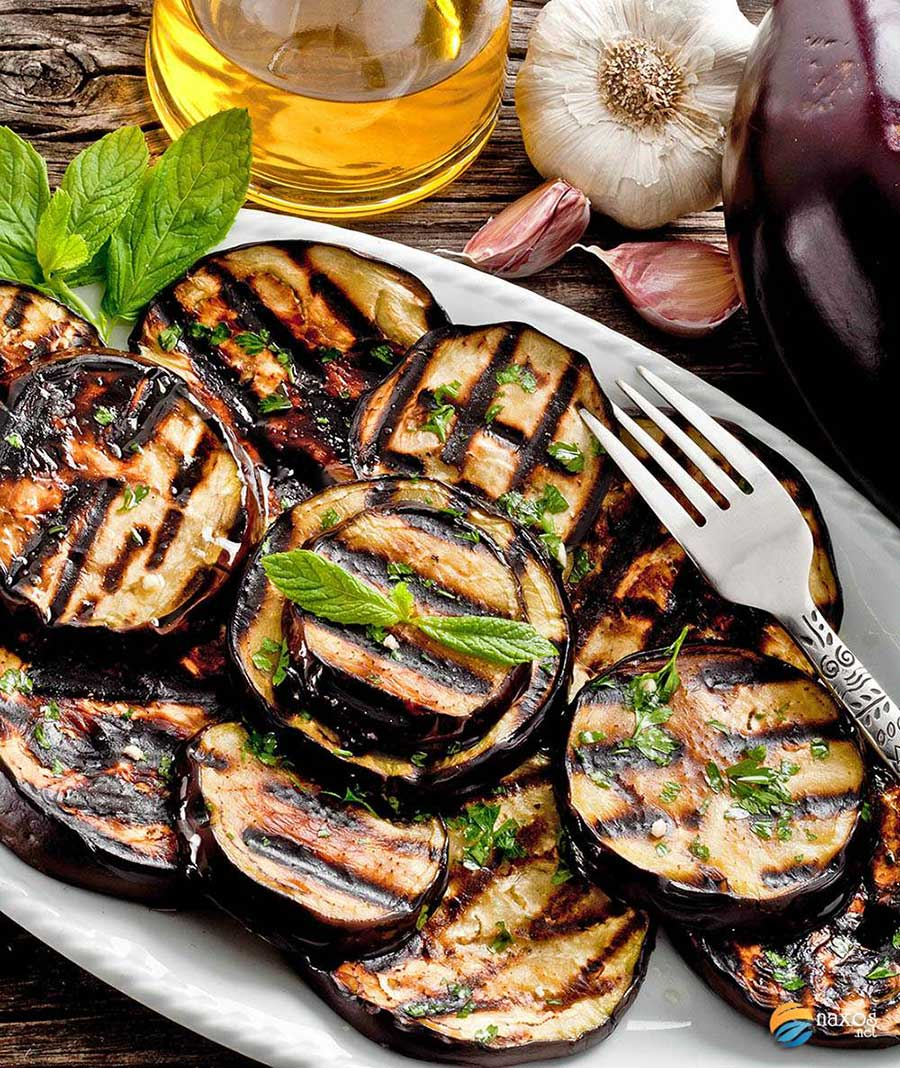 Grilled-aubergines with garlic