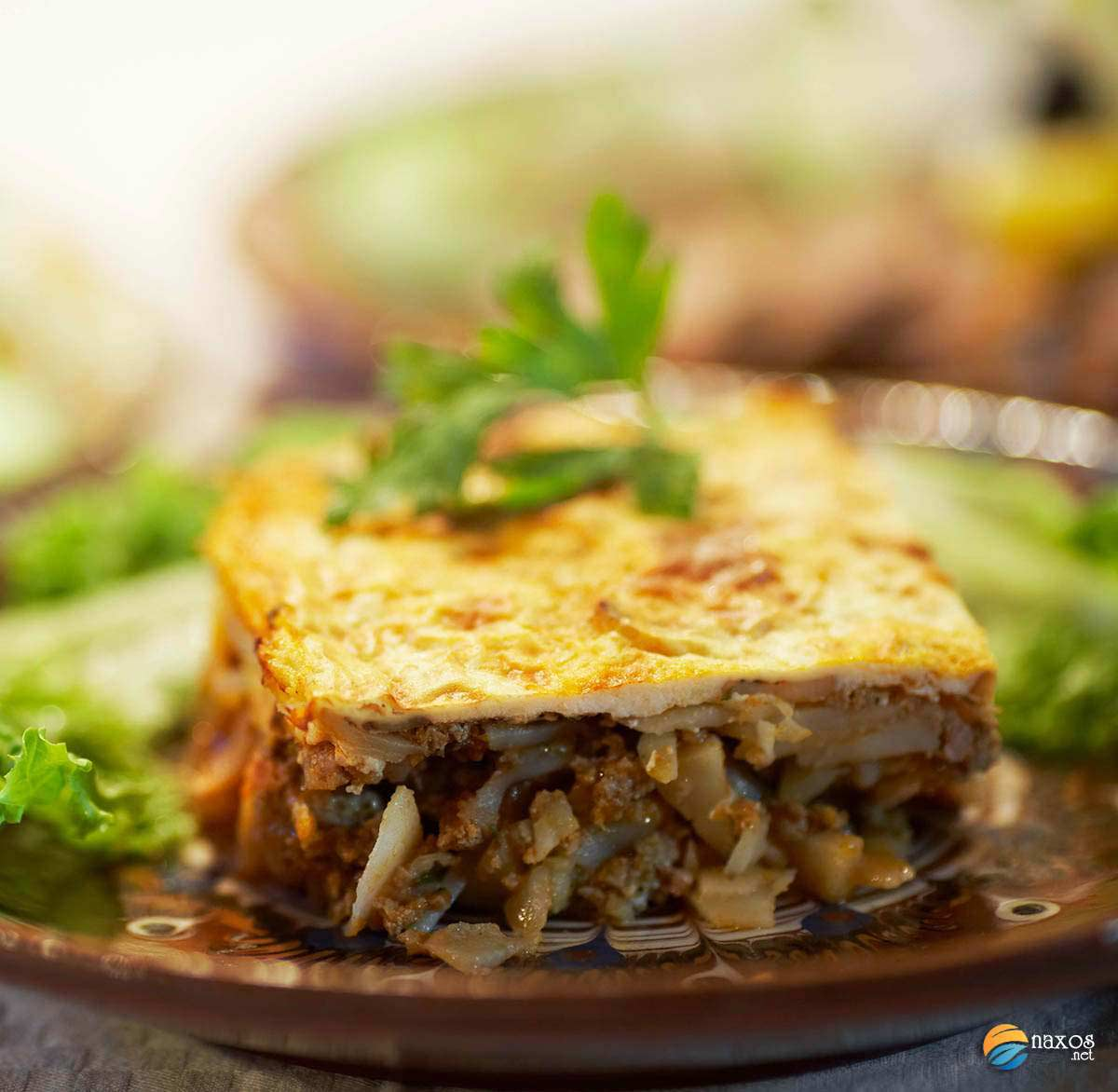 The traditional recipe for moussaka