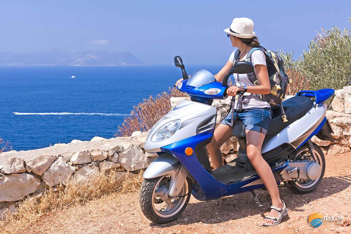 Rent a motorbike on Naxos and explore the island