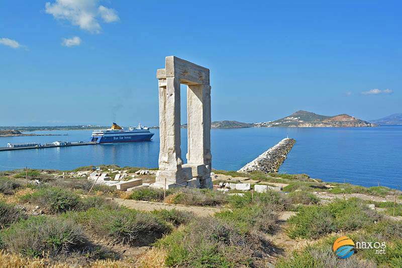 Travel to Naxos by ferry or plane