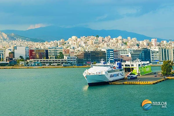 Get to Naxos by ferry from Piraeus port.