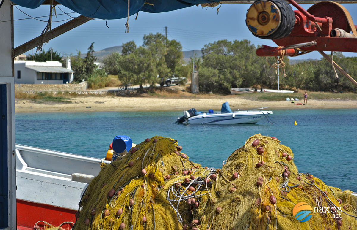 Fishing nets at the port of Agia Anna village