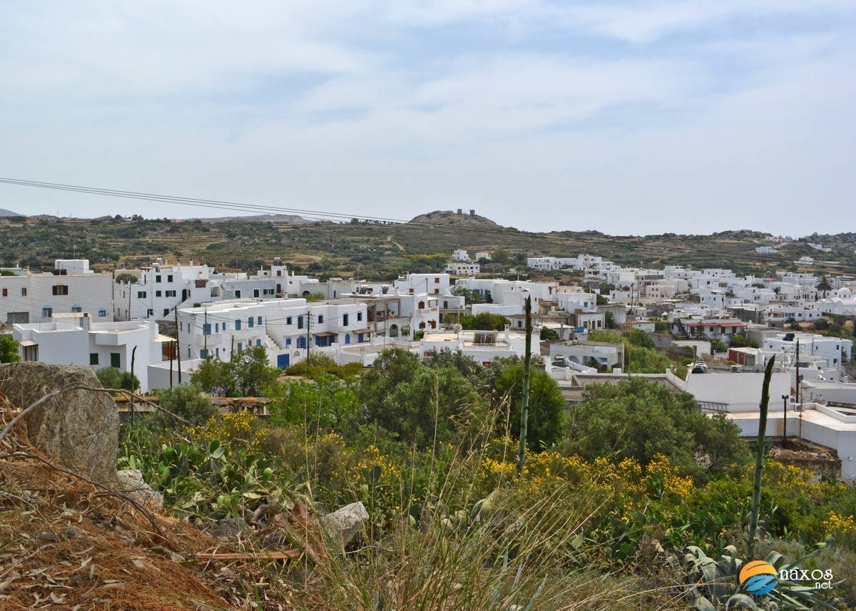 Distant view of Galanado village, Naxos
