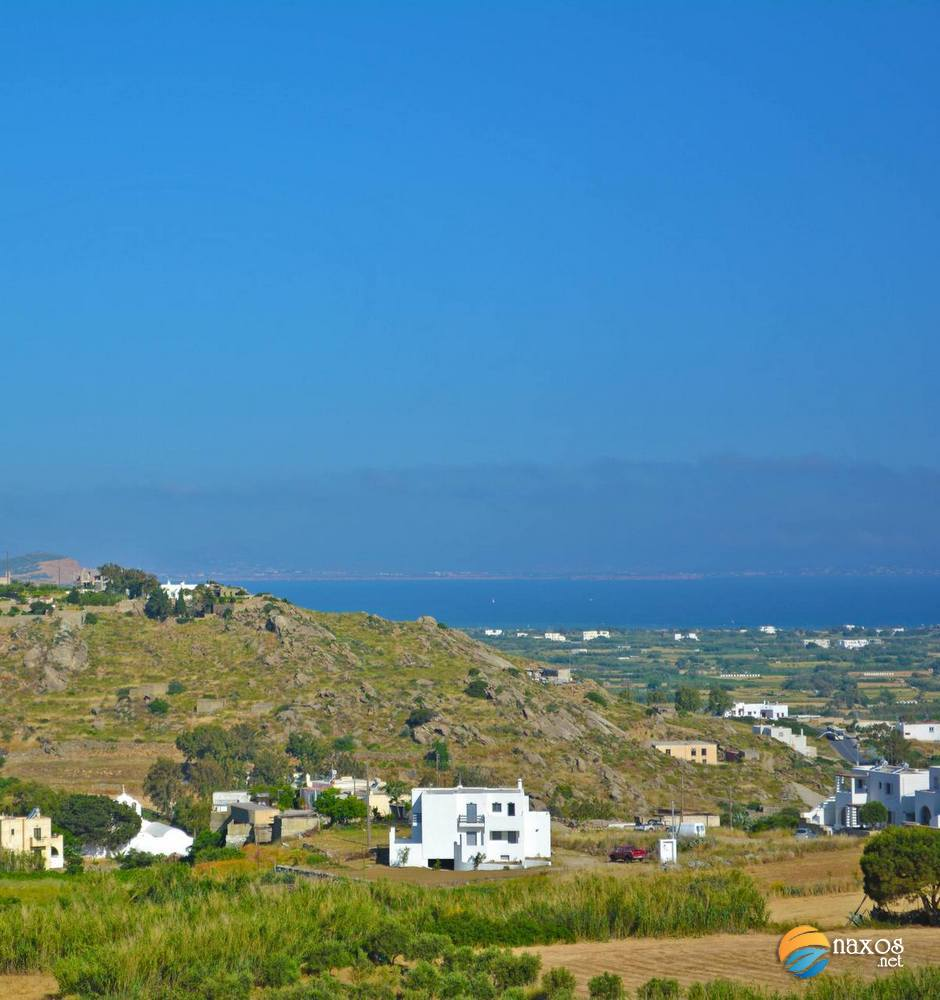 View of Naxos and Paros from Glinado