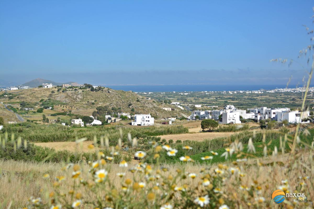 View of Glinado, the fertile valley and the sea