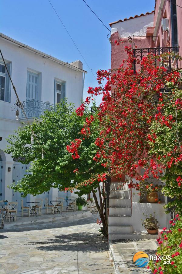 Colourful Chalki village of Naxos