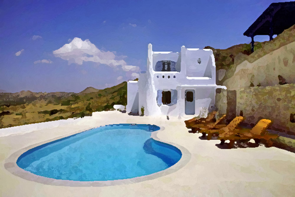 Villas on Naxos island