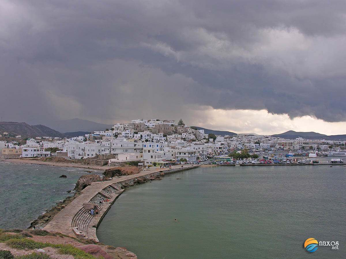 Weather forecast for Naxos (photo taken during autumn)